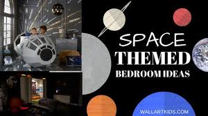 themed pictures space themed bedroom ideas wall kids