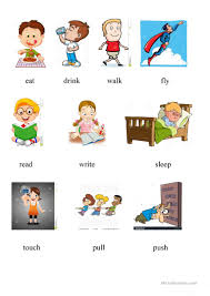 Action Linking Verbs Worksheet 11 Free Esl Action Verbs 2 Worksheets