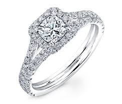 cushion cut split shank engagement rings forevermark cushion cut halo ring with pave split shank