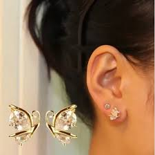 stud for ear dropshipping 2014 fashion earrings jewelry 18k gold plated cz