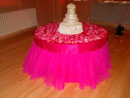 Pink Table Skirt by Pink Cake Table Skirt Tulle Fits 60