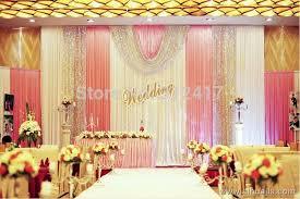 pink and silver baby shower hotsale 10x20 white pink silver wedding backdrop with swag wedding