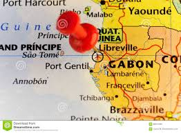 Gabon Map Capital Of Gabon Libreville Pinned Map Stock Illustration Image
