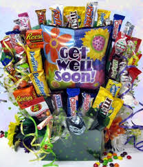get well soon package wishes get well soon candy bouquet