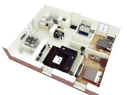 floor plan in 3d bedroom 29 2 bedroom apartments plan in modern 25 more 2