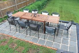 Paver Patio Diy Diy Backyard Patio House Elizabeth Burns Design