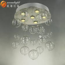 Glass Bubble Chandelier China Chrome Electroplated Smooth Glass Ball Glass Bubble