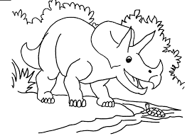 t rex fighting with triceratops coloring page color luna 19601