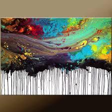 original abstract modern landscape made abstract modern painting original custom made to order