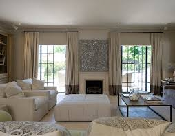 Two Tone Curtains Two Tone Curtains Transitional Living Room Marco Meneguzzi