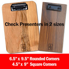 guest check presenters free 4 5 x 9 check presenter black walnut menu clipboards for