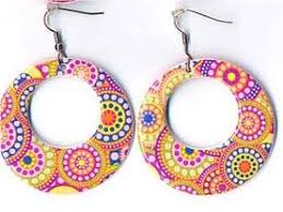 70s earrings 70s psychedelic earrings
