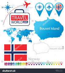 Norway World Map by Bouvet Island Norway Flag World Map Stock Vector 161334014