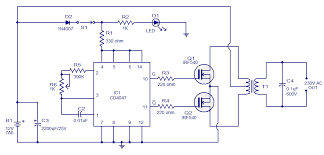 simple 100w inverter circuit electronic circuits and diagram