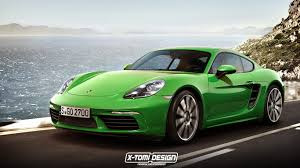 custom porsche boxster porsche 718 cayman rendering is as good as the actual car
