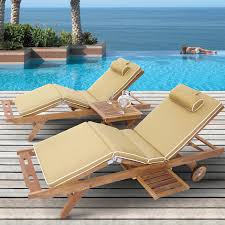 Chaise Lounge Chairs Outdoor Royal Teak Sun Bed Chaise Lounge Set Hayneedle