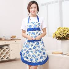 Screen Printed Aprons Aliexpress Com Buy New Printed Apron With Pockets Waterproof