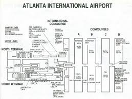 Map Of Orlando Airport by Map Of Atlanta Airport Map Of Atl Airport United States Of America