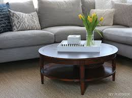 Funny Coffee Tables - round coffee table options for our family room space