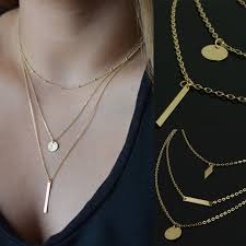 multi layer necklace images Multi gold necklace images jpg