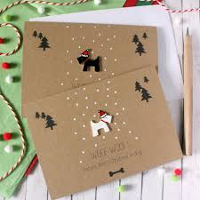 woof woof means merry scottie card by