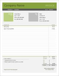Editable Invoice Template Excel Free Billing Invoice Template