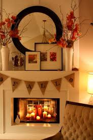 fall decor for the home elegant fireplace fall decor idea the