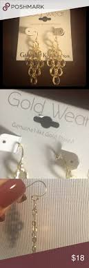 gold plated earrings for sensitive ears 1 hr sale genuine 14k gold plated earrings sensitive