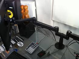 Studio Monitor Stands For Desk by Uplift Desk Dual Monitor Arm U201d Demo And Review Home Recording