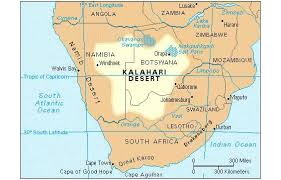 africa map deserts the seven largest deserts in the world