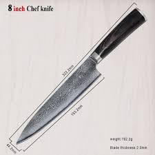 damascus kitchen knife set 6 professional japanese santoku chef