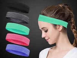 hair bands for men wholesale new men women wide sports headband stretch elastic
