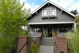 A Frame Awning Dark Gray Paint Exterior Craftsman With A Frame Brick Bungalow
