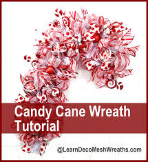 you can now make these deco mesh candy cane wreaths at www