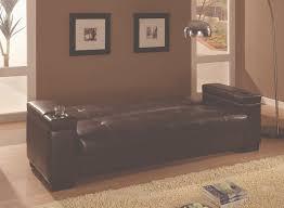 coaster furniture 300143 storage cup holder arm futon sofa bed