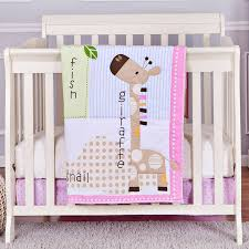 Design Crib Bedding Stylish Mini Crib Bedding Sets Design Pink White And Beige Color