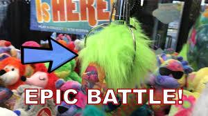 epic battle for fuzzbert trolls plush claw machine skill crane