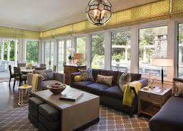 Windows Sunroom Decor This Contemporary Sunroom Features Updated Furniture And Bright