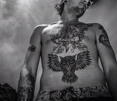 big belly owl tattoo for black and white men tattooshunter com