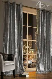 Grey And Silver Curtains Silver Curtains Silver Eyelet Lined Curtains Next Uk