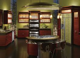glass door kitchen cabinet fascinating bamboo kitchen cabinets with red color kitchen