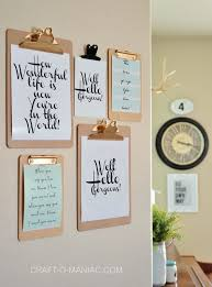 diy shoestring wall ideas inexpensive wall clipboards