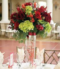 palo alto wedding flowers red flower centerpieces red wedding
