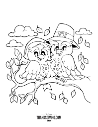 thanksgiving day book coloring book pages for kids