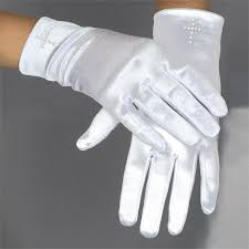 communion gloves satin spandex communion gloves