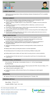 Resume Manager Business Development Manager Cv Format U2013 Resume Sample