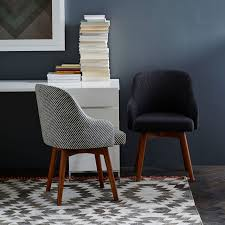 Upholstered Swivel Desk Chair by Saddle Swivel Office Chairs West Elm
