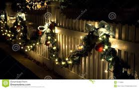 Decorated Christmas Homes Wooden Fence Decorations Christmas Outside Christmas Decorating