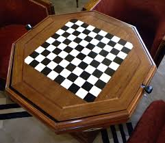 art deco game table chess checkers backgammon sold items small