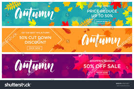 autumn sale text banners september shopping stock vector 696974851